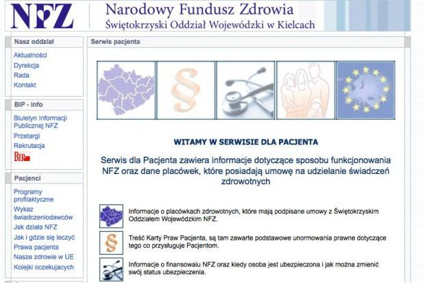 Świętokrzyski NFZ stworzył podstrony www dla pacjentów