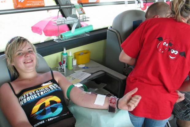 Krwiodawcy na Przystanku Woodstock