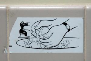 Trudno walczyć z grypą, gdy nie ma... mydła!
