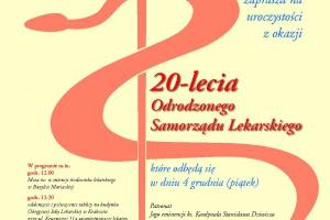 Kraków: obchody 20-lecia odrodzonego samorządu lekarskiego