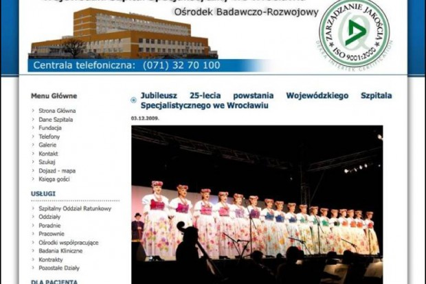 Wrocław: ćwierć wieku Wojewódzkiego Szpitala Specjalistycznego