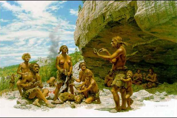 Neandertalczyk w gabinecie stomatologicznym