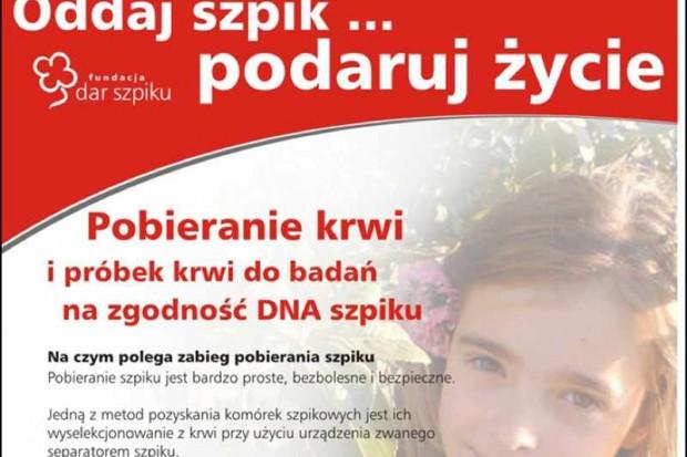 Kraków: za mało na badania dawców szpiku