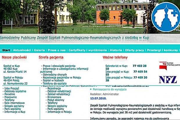 Opolskie: uruchomiono oddział dla chorych na gruźlicę