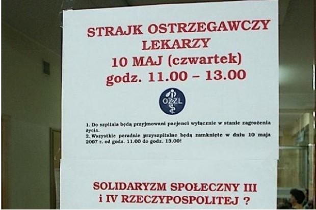 Śląsk: lekarze z OZZL chcą ogólnopolskiej akcji protestacyjnej