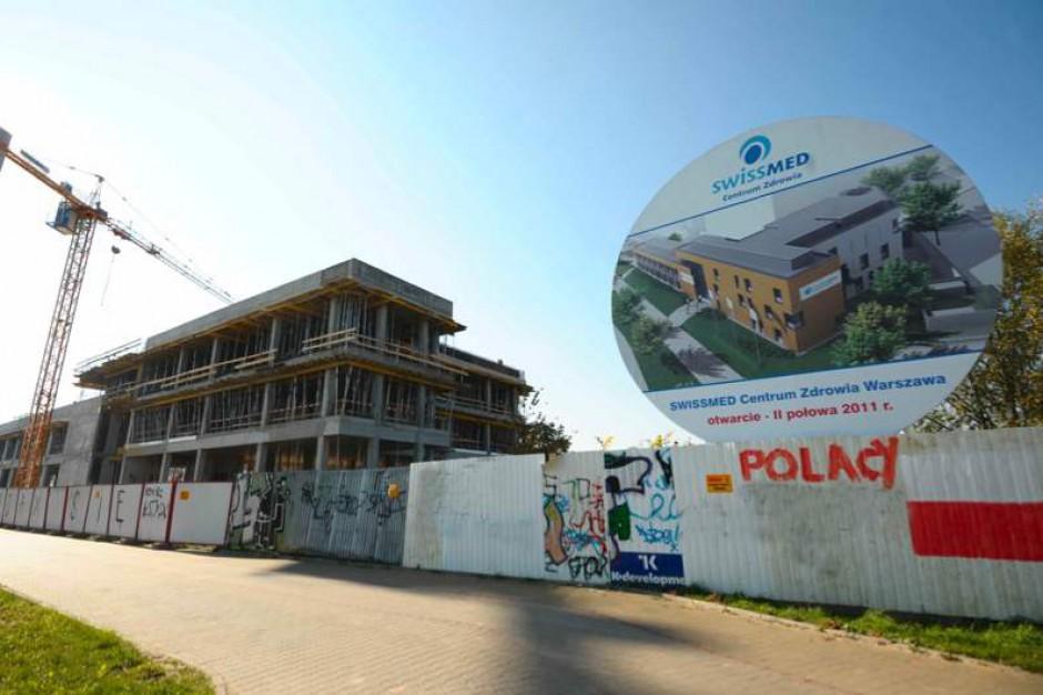 Warszawa: szpital Swissmedu już w stanie surowym