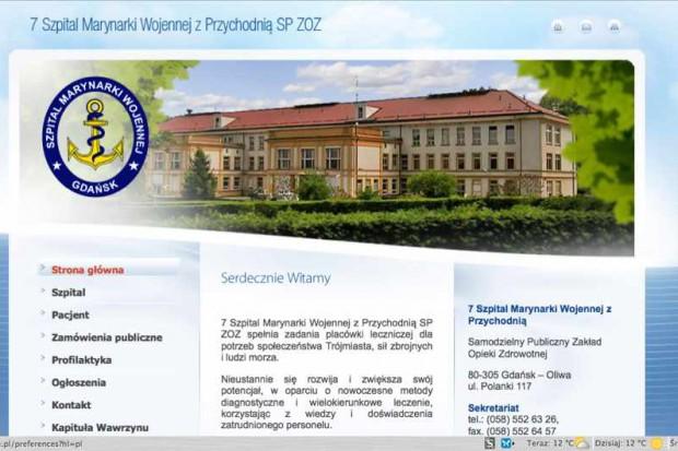 Gdańsk: Szpital Marynarki Wojennej wznawia pracę dwóch oddziałów