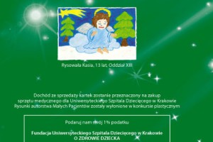 Kraków-Prokocim: świąteczna kartka na rzecz szpitala