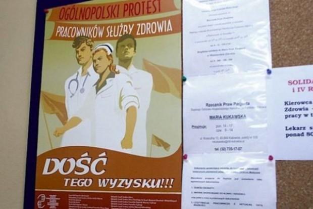 Katowice: pikieta OZZL przeciwko oszczędnościom w szpitalach