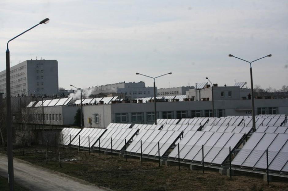 Kolektory słoneczne w olsztyńskiej klinice