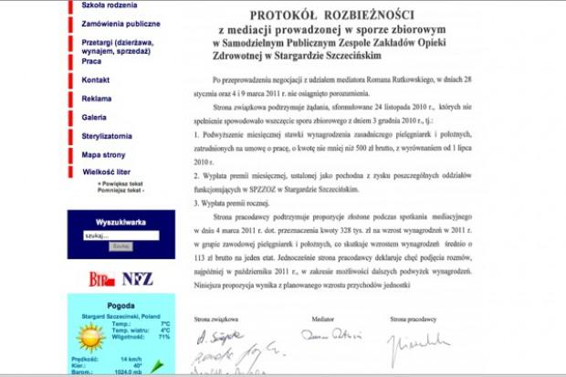 Stargard Szczeciński: na dzień przed strajkiem pielęgniarek
