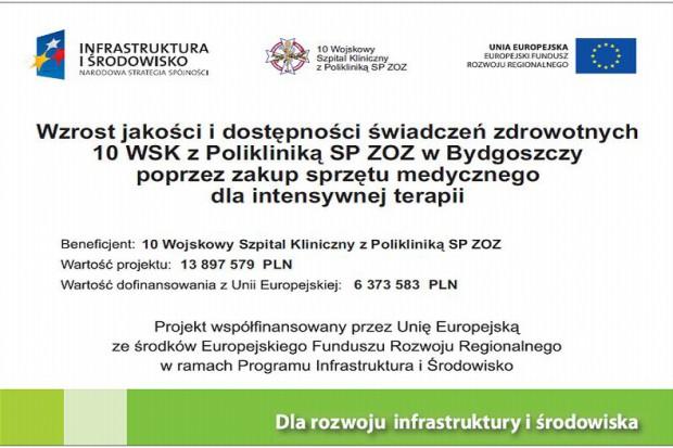 Bydgoszcz: 14 mln zł na oddział anestezjologii i intensywnej terapii