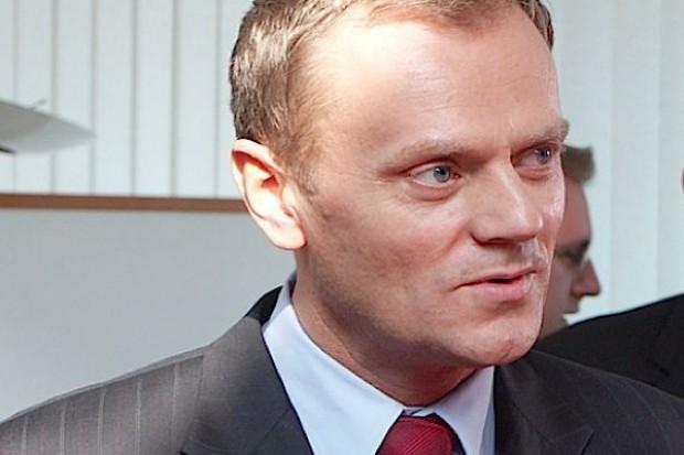 Premier Tusk przedwyborczo w szpitalu w Grudziądzu