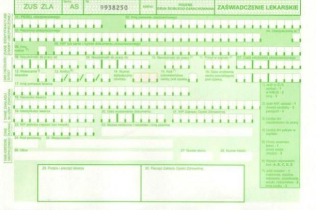 Zaświadczenia lekarskie: NIP zastąpiony przez PESEL