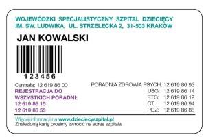 Kraków: szpital dziecięcy wprowadził własną kartę pacjenta