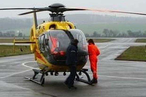 Mielec: śmigłowiec LPR pierwszy raz wylądował na przyszpitalnym lądowisku