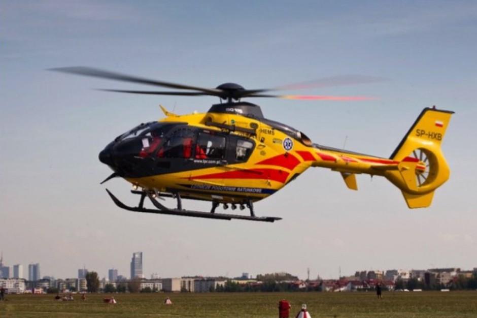 Olesno: pierwszy helikopter na nowym lądowisku