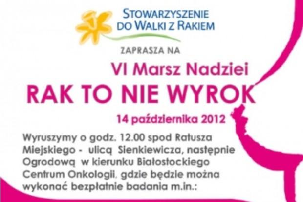 """Białystok: Marsz Nadziei """"Rak to nie wyrok"""""""