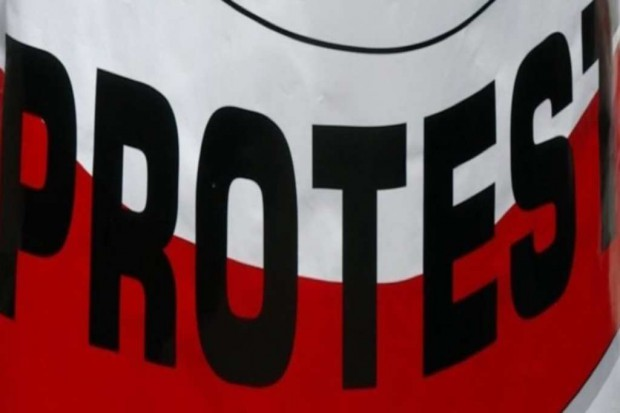 Protest pracowników Państwowej Inspekcji Sanitarnej