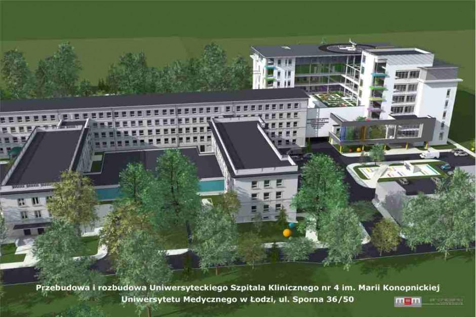 Łódź: potrzeba 100 mln zł na rozbudowę szpitala
