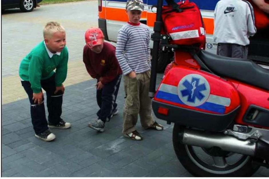 Olsztyn: dyżurny ratownik medyczny na motocyklu