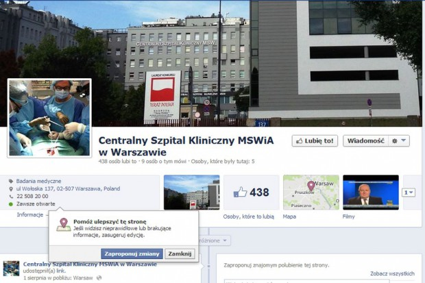 Szpitale na fejsie, czyli komu potrzebne są media społecznościowe?