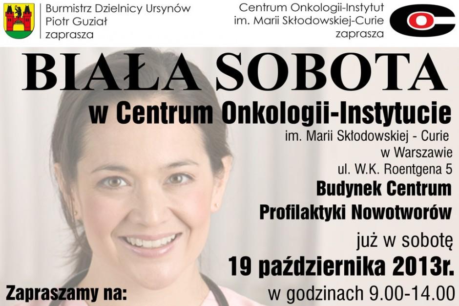 Warszawa: Biała Sobota w Centrum Onkologii
