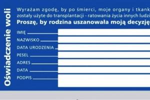 Program promujący transplantację: rozdano 12 tys. oświadczeń