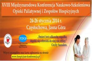 Konferencja Naukowo-Szkoleniowa Opieki Paliatywnej i Zespołów Hospicyjnych