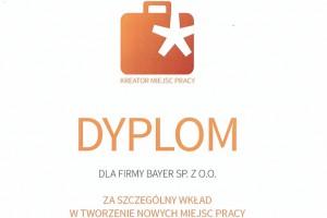 """Konkurs """"Kreator Miejsc Pracy"""": Bayer w Polsce wyróżniony"""