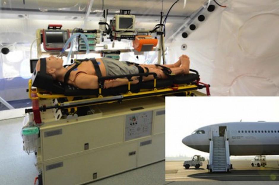Niemcy przebudowali Airbusa - mają samolot do ewakuacji chorych na ebolę