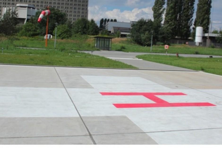 Nowe lądowisko przy szpitalu w Kartuzach