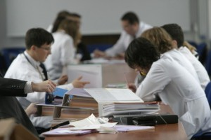 Studenci z Kopenhagi na wykładach w Collegium Medicum UJ