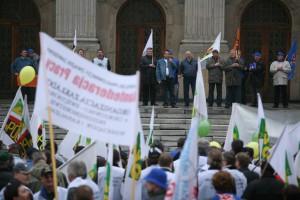 Lublin: pikieta związkowców ws. kontraktu dla Centrum Onkologii