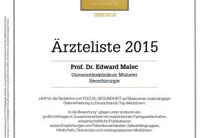Prof. Edward Malec po raz kolejny najlepszym lekarzem w Niemczech