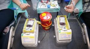 Łódź: górnicy z Bełchatowa zagrali dla małych pacjentów i oddali krew