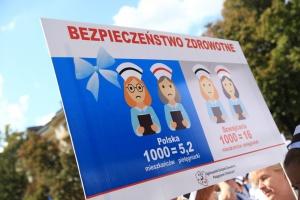 """Protest pielęgniarek w olsztyńskim szpitalu. Dyrekcja: pikieta była """"nielegalna"""""""