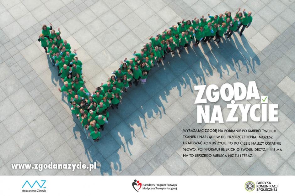 Kampania Zgoda na życie: połowa Polaków jest gotowa oddać narządy, ale...