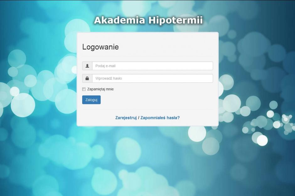 Platforma e-learningowa Akademia Hipotermii już działa