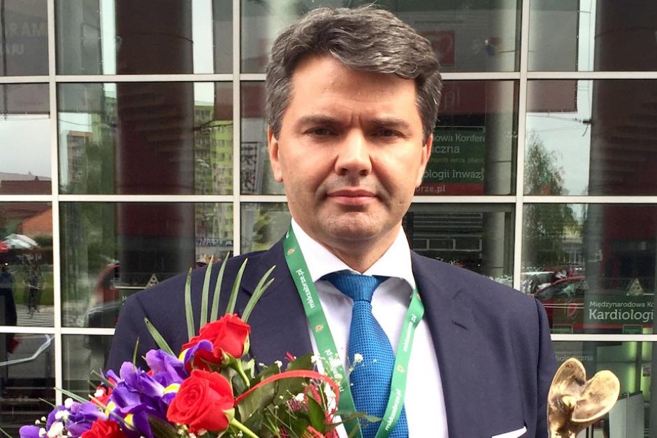 """Kraków: profesor Dariusz Dudek odznaczony """"Oskarem Kardiologii"""""""
