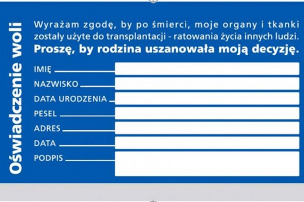 CBOS: 80 proc. Polaków zgadza się na przeszczep narządów po śmierci