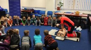 Mikołajki i kurs pierwszej pomocy dla przedszkolaków w mazowieckim NFZ