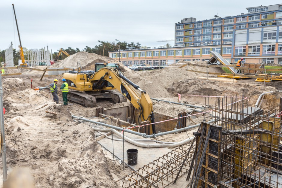 Toruń: inżynierowie rozbudowujący szpital zaprezentowali postępy prac