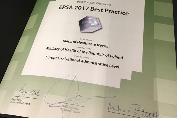 """Projekt """"Mapy potrzeb zdrowotnych"""" z europejskim certyfikatem"""