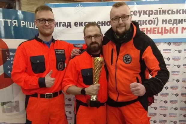 Zespół Krakowskiego Pogotowia Ratunkowego wygrał zawody na Ukrainie