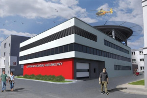 Zabrze: przy szpitalu miejskim powstają SOR i lądowisko za 26 mln zł
