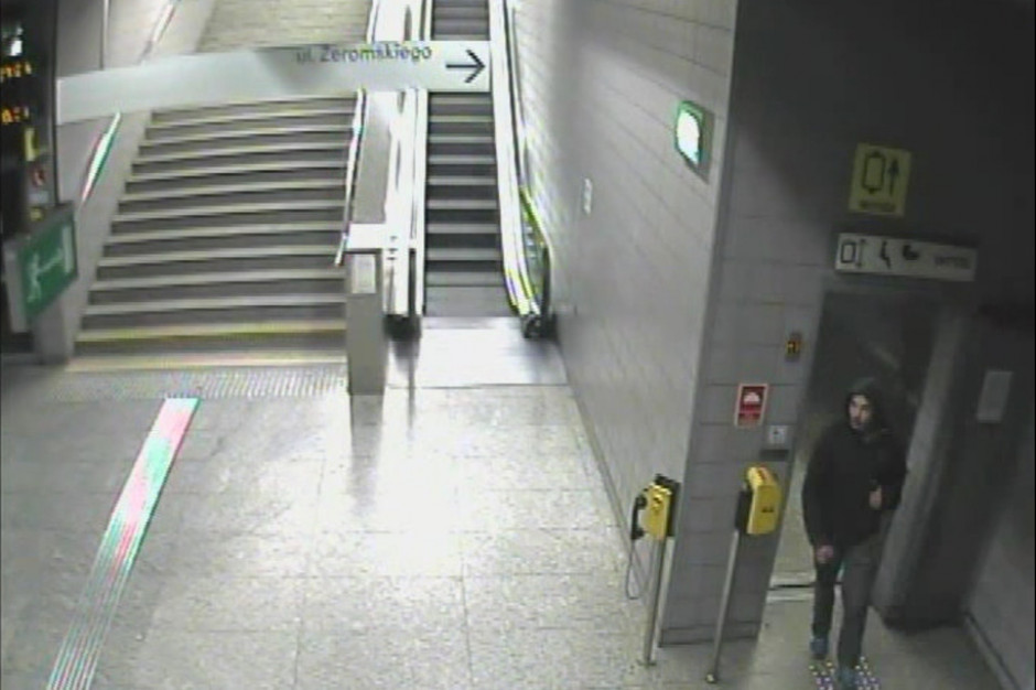 Policja szuka mężczyzny, który ukradł defibrylator ze stacji metra