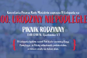 Warszawa: stoisko NFZ na pikniku z okazji 100-lecia odzyskania niepodległości