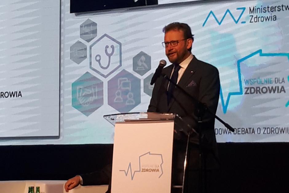 """Minister Szumowski: debata """"Wspólnie dla zdrowia"""" ważna dla opracowania długoterminowych zmian"""