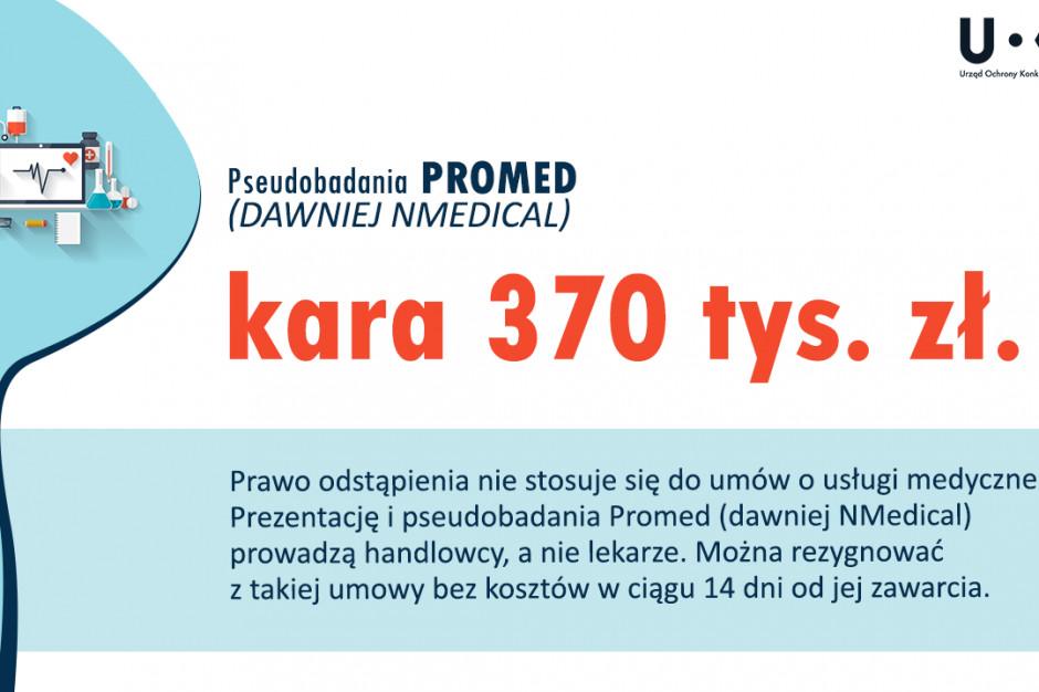 370 tys. zł kary od UOKiK za pseudobadania i ''program medyczny''